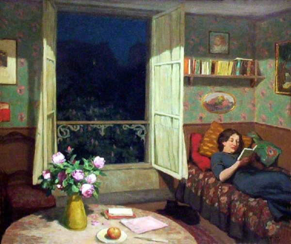 Reading on a Sofa